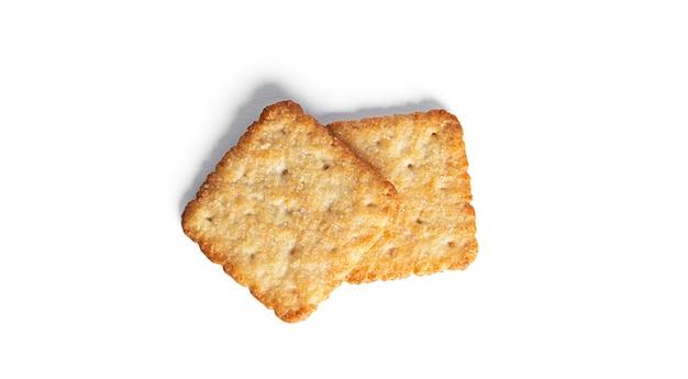 Zoete cracker geïsoleerd op een witte achtergrond. hoge kwaliteit foto