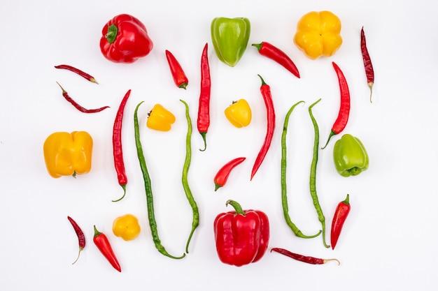 Zoete en chili pepers