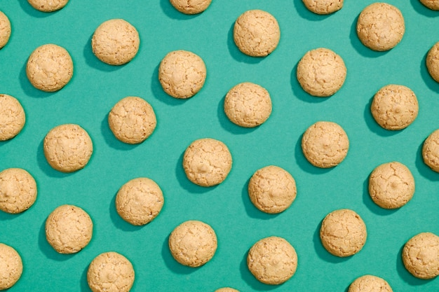 Zoete koekjes plat lag patroon