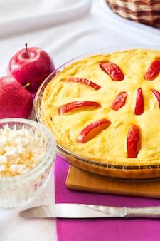 Zoete kwark braadpan met appel