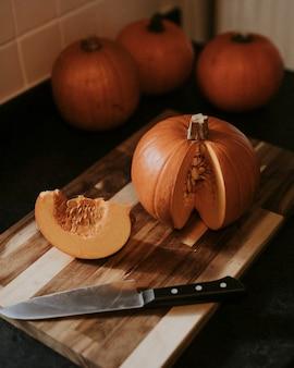 Zoete pompoenschijfjes thanksgiving food fotografie