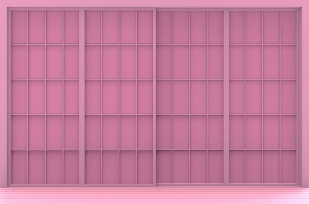 Zoete roze japanse stijl muur achtergrond.