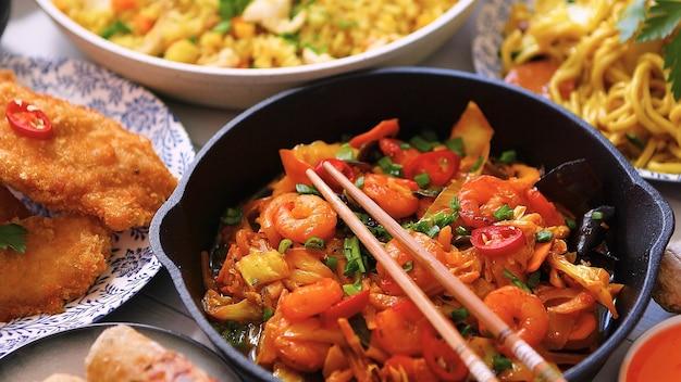 Zoetigheden gevarieerde gerechten bereid