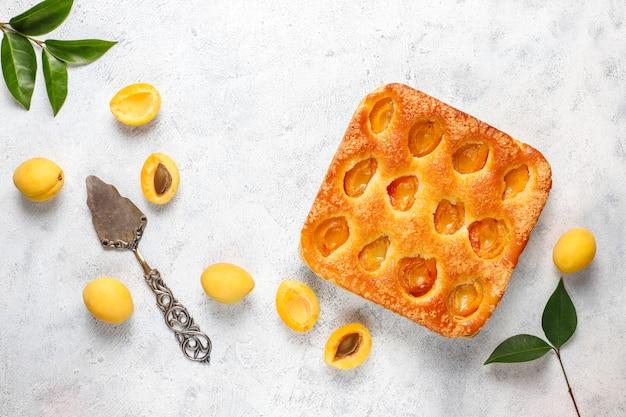 Zomer abrikozen taart