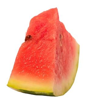 Zomer eten. gesneden watermeloen isoleren op een witte achtergrond.
