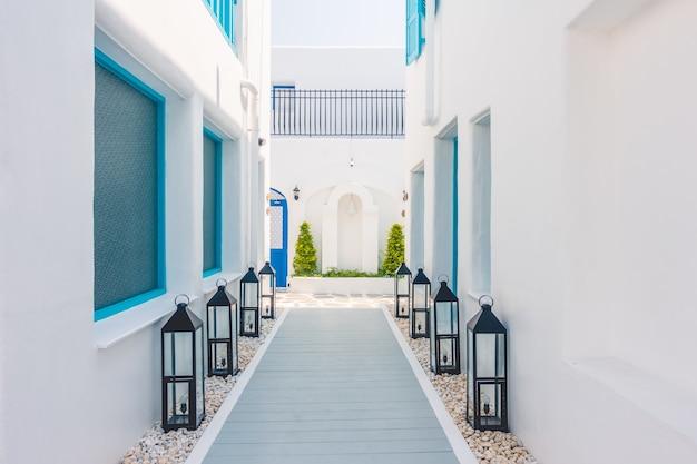 Zomer mooie eiland dorp cycladen