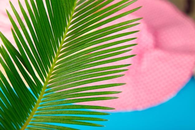 Zomer outfit wazig. tropisch palmverlof