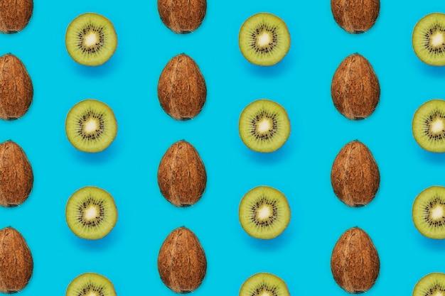 Zomer patroon met kiwi's