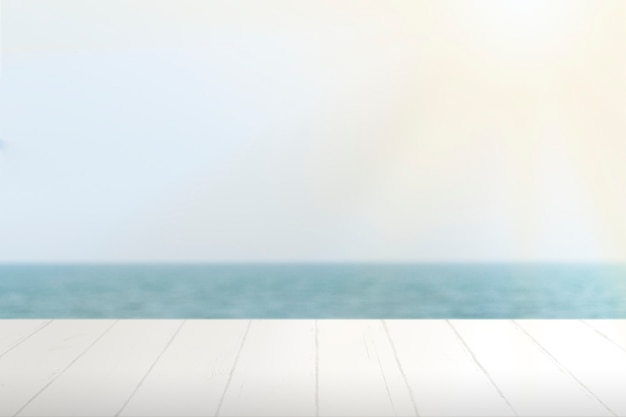 Zomer product achtergrond, blauwe zee achtergrond
