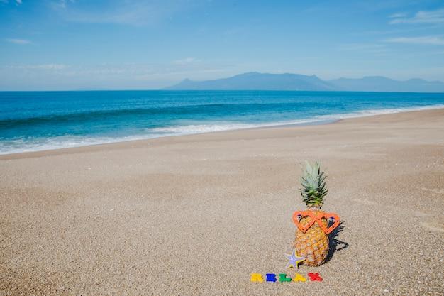Zomer samenstelling op het strand