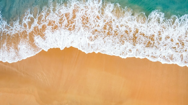 Zomer tropisch strand en golven
