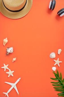 Zomer vakantie vakantie concept oranje achtergrond