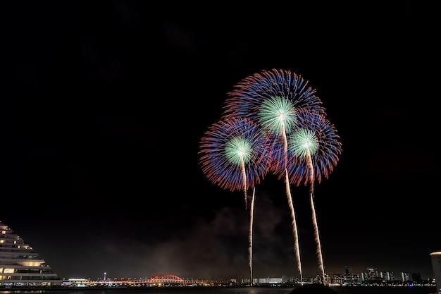 Zomer vuurwerkfestival japan