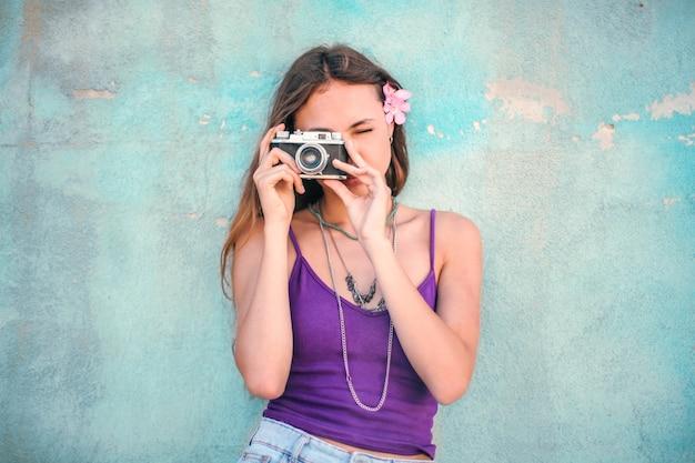 Zomerherinneringen door een camera