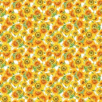 Zonnebloem naadloos patroon