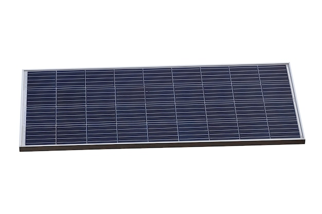 Zonnepaneel geïsoleerd op een witte achtergrond. alternatieve energiebronnen. hoge kwaliteit foto