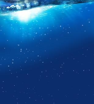 Zonnestraal in het water