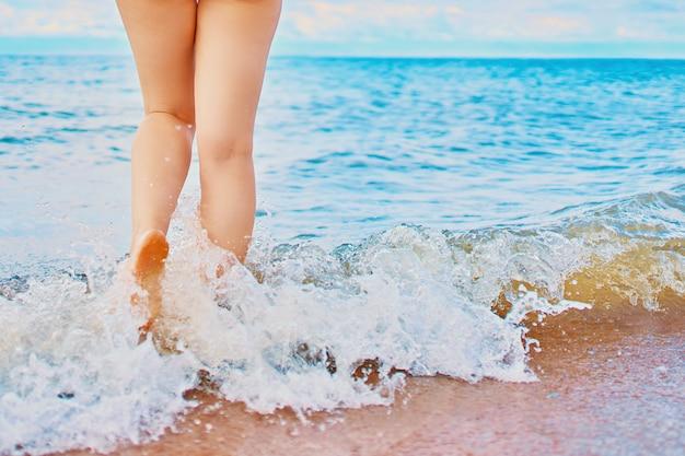 Zonnige dag op het strand