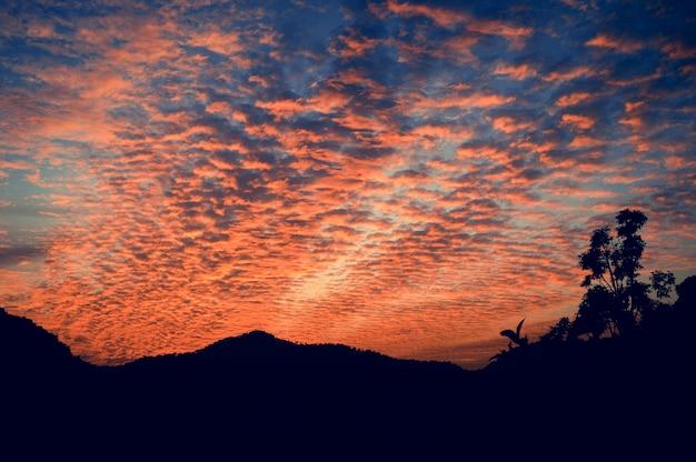 Zonsondergang abstracte schemering zomer ruimte gouden