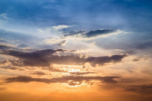 Zonsondergang hemelachtergrond
