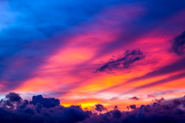 Zonsondergang lucht