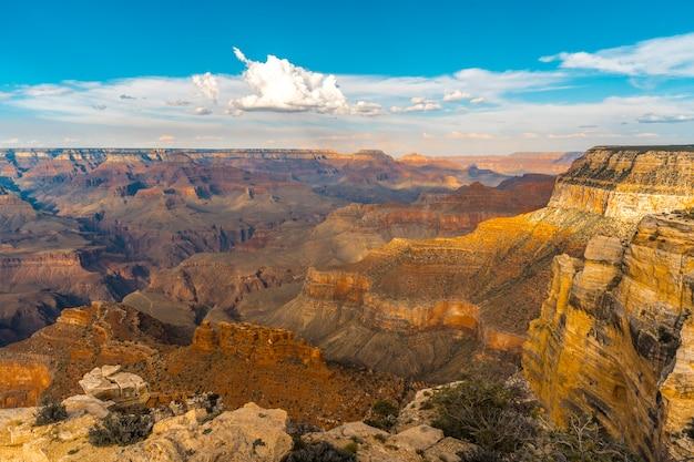 Zonsondergang op het mojave-punt van de grand canyon