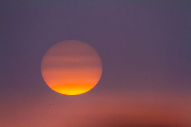Zonsondergang op het strand van sanlucar de barrameda