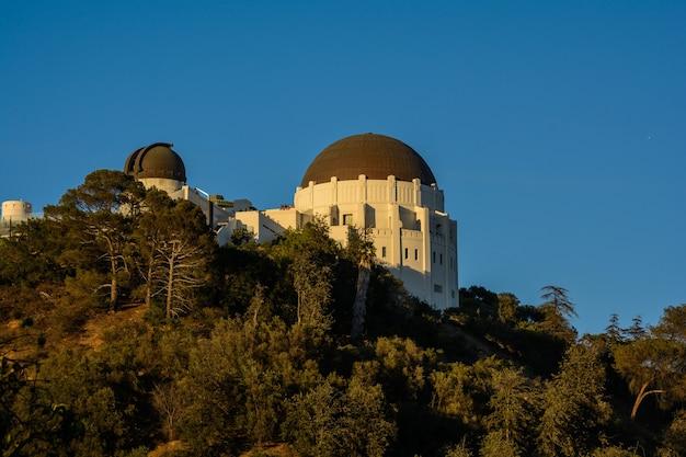Zonsondergang vanaf het griffith observatorium