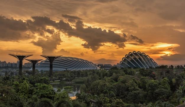Zonsopgang in de ochtend in singapore