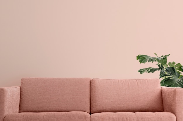 Zoom achtergrond woonkamer pastel modern interieur