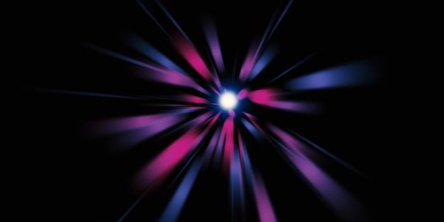Zoom laserlicht lijn explosie van licht diffuus laserlicht 3d illustratie