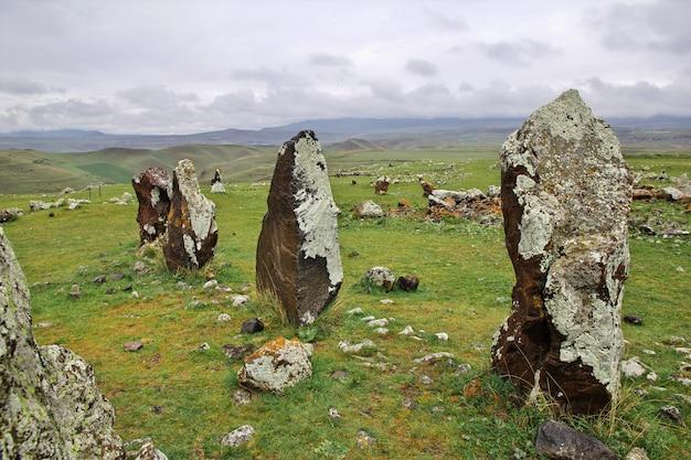 Zorats karer, karahunj, oude ruïnes, armenië
