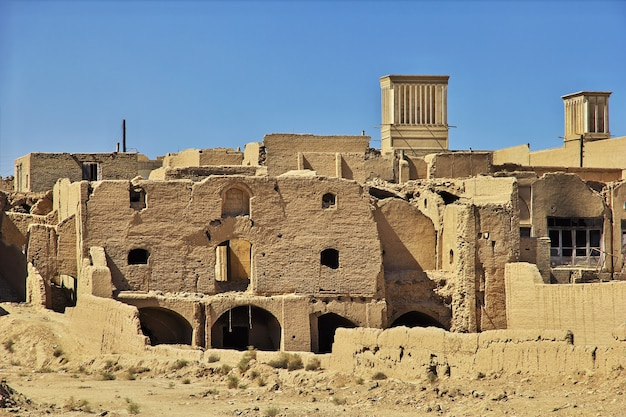 Zoroastrische ruïnes in yazd van iran