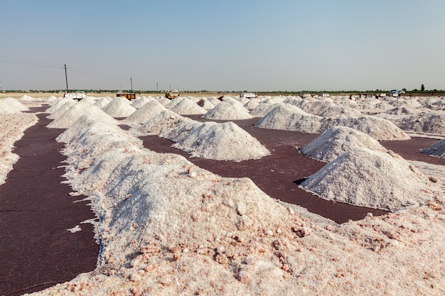 Zoutmijn bij sambhar lake, sambhar, rajasthan, india