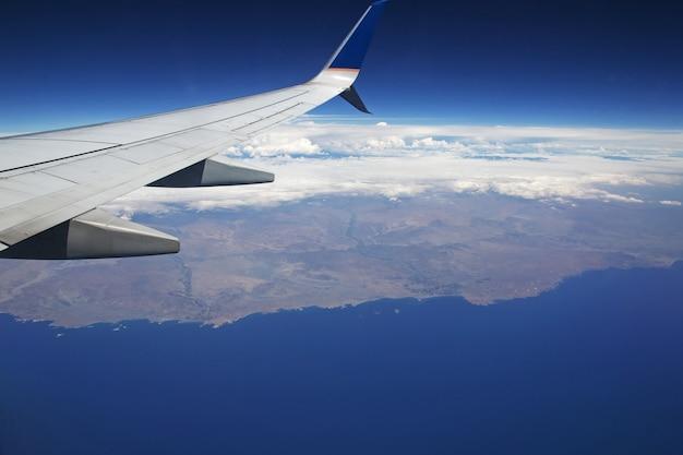 Zuid-amerika, het uitzicht vanuit het vliegtuig