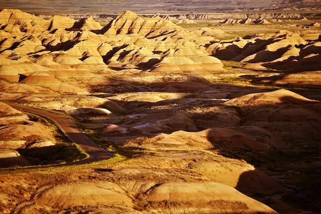 Zuid-dakota badlands landschap. badlands landschap.