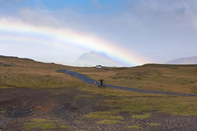 Zuid-ijslands landschap met regenboog
