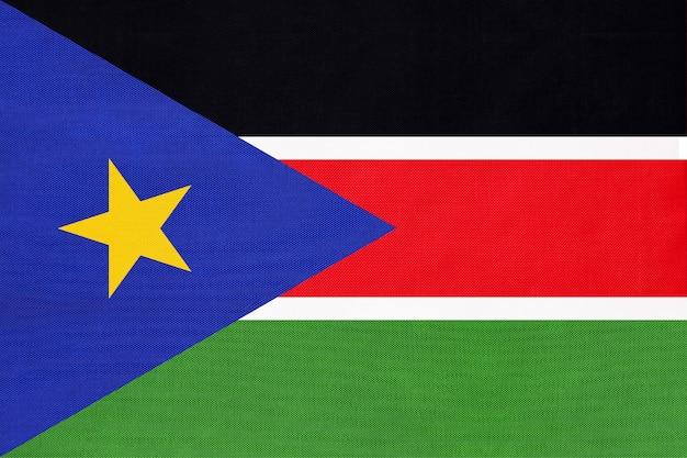 Zuid-soedan nationale textielvlag textiel