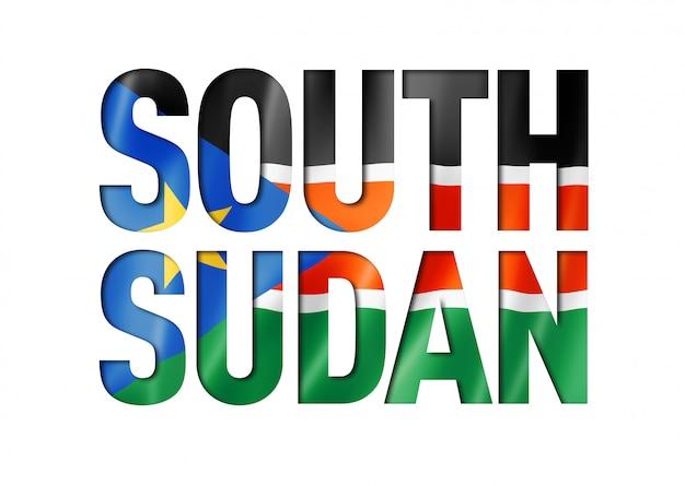 Zuid-soedan vlag tekstlettertype