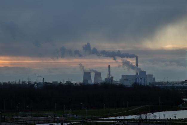 Zuidelijke thermische elektriciteitscentrale st. petersburg, rusland