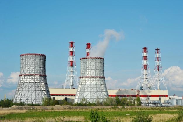 Zuidwestelijke thermische krachtcentrale in st. petersburg, rusland
