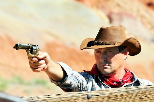 Zuidwesten - een cowboy heeft tijd nodig om te rusten en na te denken.
