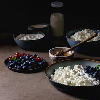 Zuivelproducten voor het ontbijt