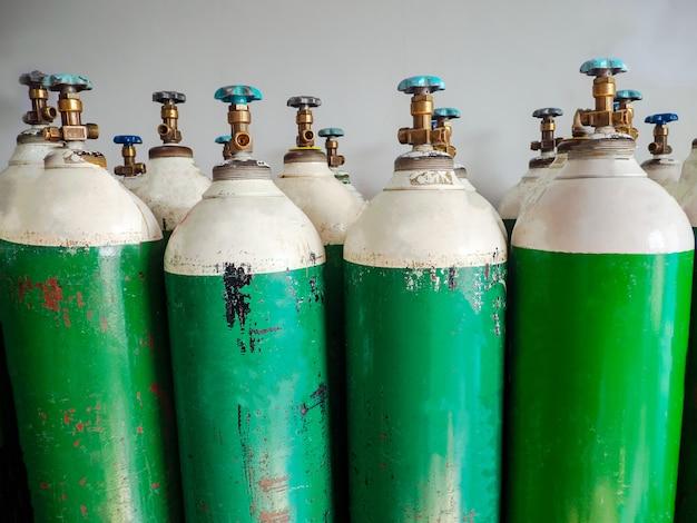 Zuurstof cilinder en regulator gauge, ziekenhuisapparatuur