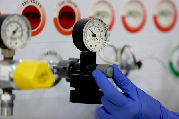 Zuurstoffles uit een ziekenhuis
