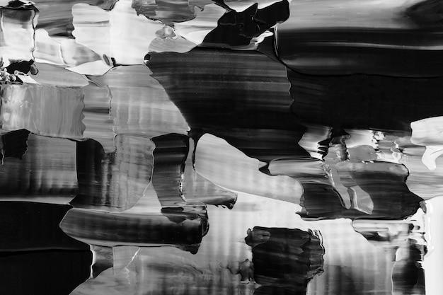 Zwart achtergrondbehang abstracte verftextuur