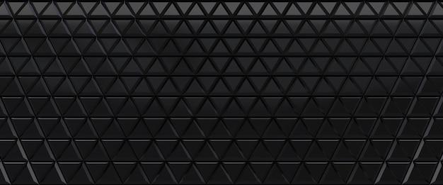Zwart betegelde driehoekige abstracte achtergrond. geëxtrudeerd driehoekenoppervlak. 3d render.