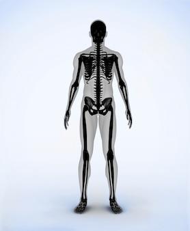 Zwart digitaal skelet