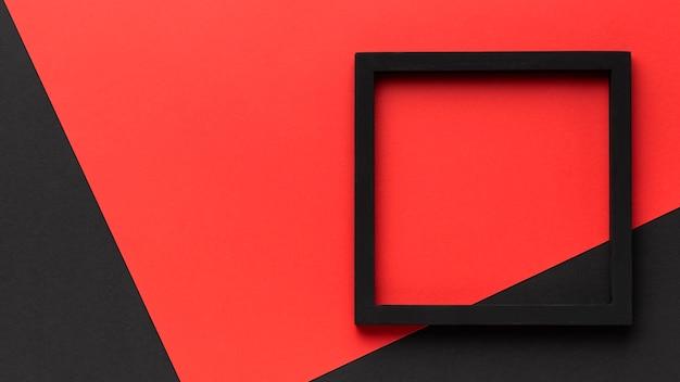 Zwart frame met kopie-ruimte