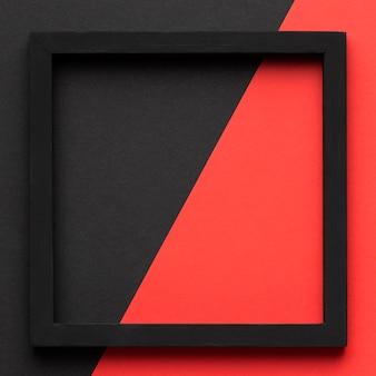 Zwart frame met platte kopie-ruimte